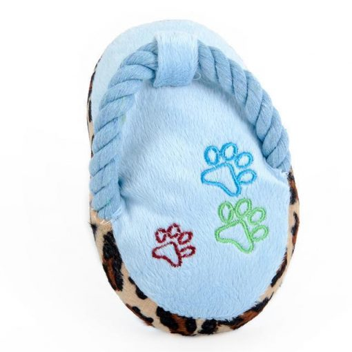 Chewable Squeaky Slipper-shaped Toy Stunning Pets Blue M