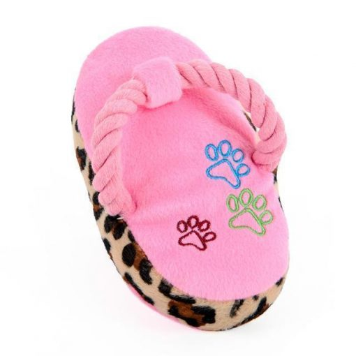 Chewable Squeaky Slipper-shaped Toy Stunning Pets Pink M