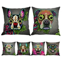 Christmas Colorful Linen Cushion Cover Stunning Pets
