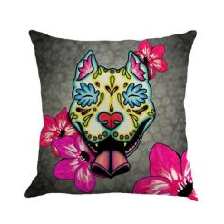 Christmas Colorful Linen Cushion Cover Stunning Pets 45x45cm 16