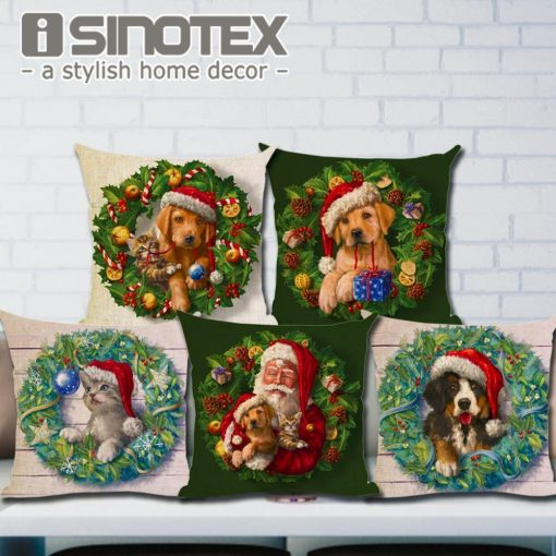 Christmas Decoration Cushion Cover Stunning Pets