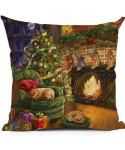 Christmas Decoration Cushion Cover Stunning Pets 43x43cm 10
