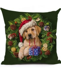 Christmas Decoration Cushion Cover Stunning Pets 43x43cm 13