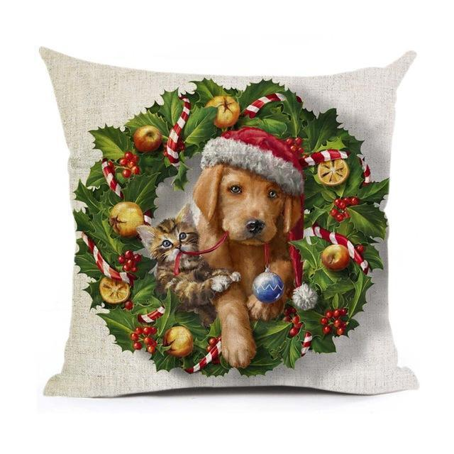 Christmas Decoration Cushion Cover Stunning Pets 43x43cm 14