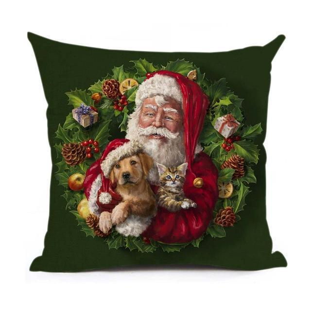 Christmas Decoration Cushion Cover Stunning Pets 43x43cm 15