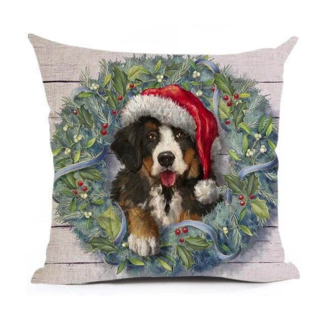 Christmas Decoration Cushion Cover Stunning Pets 43x43cm 16