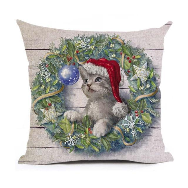 Christmas Decoration Cushion Cover Stunning Pets 43x43cm 17