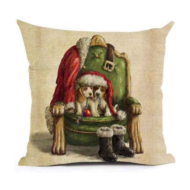 Christmas Decoration Cushion Cover Stunning Pets 43x43cm 1