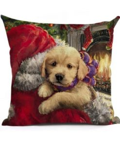 Christmas Decoration Cushion Cover Stunning Pets 43x43cm 2
