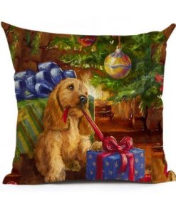 Christmas Decoration Cushion Cover Stunning Pets 43x43cm 3
