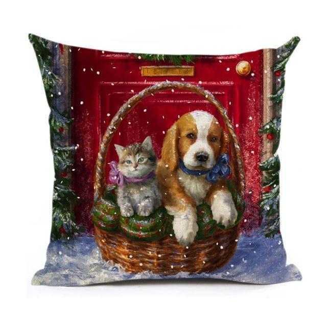 Christmas Decoration Cushion Cover Stunning Pets 43x43cm 5