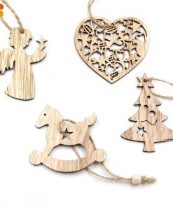 Christmas Decorations, Snowflakes, Deer&Tree Wooden Pendants Ornaments Stunning Pets