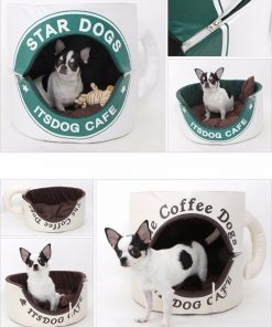 Coffee Cup Dog Bed, Funny Dog Bed Glamorous Dogs Shop - Glamorous Accessories for Your Dog + FREE SHIPPING