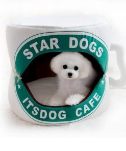 Coffee Cup Dog Bed, Funny Dog Bed Glamorous Dogs Shop - Glamorous Accessories for Your Dog + FREE SHIPPING as picture 1 35x35cm