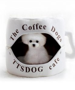 Coffee Cup Dog Bed, Funny Dog Bed Glamorous Dogs Shop - Glamorous Accessories for Your Dog + FREE SHIPPING as picture 35x35cm