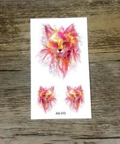 Colorful Flower Animals Dogs tattoos Stunning Pets AQ372