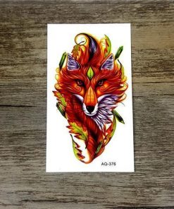 Colorful Flower Animals Dogs tattoos Stunning Pets AQ376