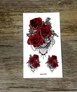 Colorful Flower Animals Dogs tattoos Stunning Pets AQ379