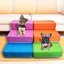 Colorful, Foldable Bed Stairs for Pets Stunning Pets