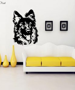 Colorful German Shepherd Dog Sticker Glamorous Dogs