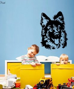 Colorful German Shepherd Dog Sticker Glamorous Dogs 77x56 cm