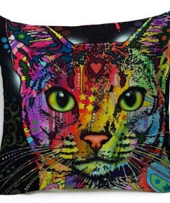 Colorful Pet Lover Cushion Stunning Pets 12