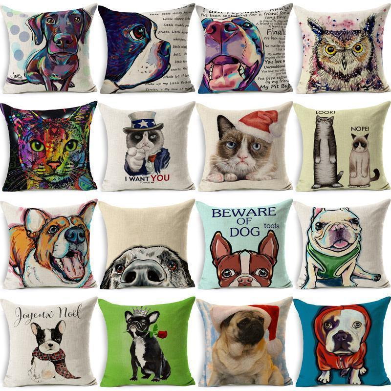 Colorful Pet Lover Cushion Stunning Pets