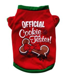 COOKIETESTER™: Adorable Christmas Costume for Dogs GlamorousDogs Cookie Tester XS