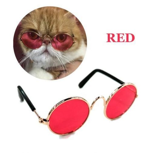 "COOL™: Cool Sunglasses for Pets Sunglasses For Pets GlamorousDogs Small (Width 3.14"") Red"