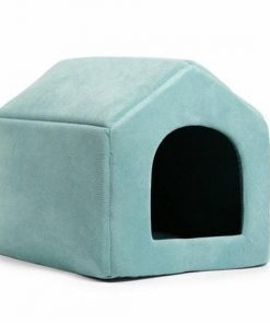 COZYBED™: 2 in 1 Cozy Bed & Sofa Luxury Pet House GlamorousDogs M Blue