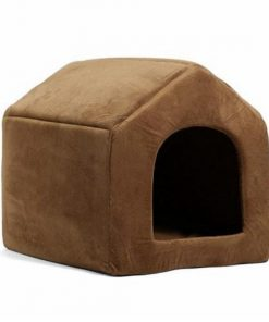 COZYBED™: 2 in 1 Cozy Bed & Sofa Luxury Pet House GlamorousDogs S Brown