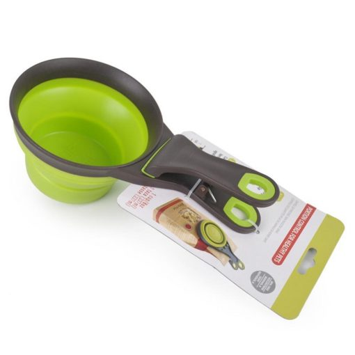 Creative Collapsible pet scoop, measuring cup & bag clip Bowl Spoon GlamorousDogs