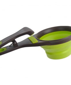 Creative Collapsible pet scoop, measuring cup & bag clip Bowl Spoon GlamorousDogs 8 oz