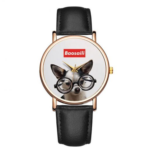 Customized Photo Watch - Memorable Christmas Gift GlamorousDogs Black