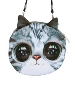 Cute 3D Cat Coin Bag | Free Shipping Stunning Pets MINI(MAX LENGTH<20CM) BLUE