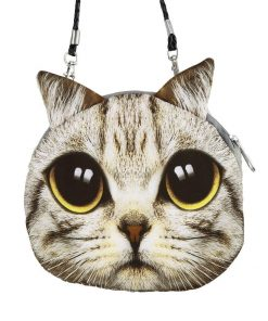 Cute 3D Cat Coin Bag | Free Shipping Stunning Pets MINI(MAX LENGTH<20CM) BROWN