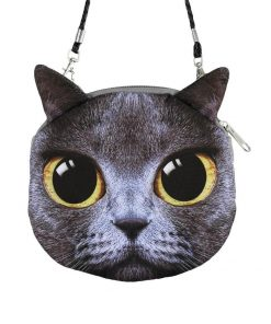 Cute 3D Cat Coin Bag | Free Shipping Stunning Pets MINI(MAX LENGTH<20CM) CLEAR