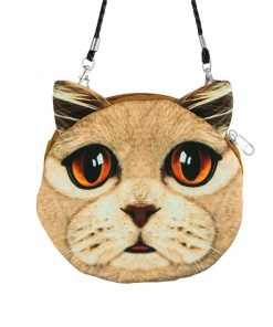 Cute 3D Cat Coin Bag | Free Shipping Stunning Pets MINI(MAX LENGTH<20CM) ORANGE