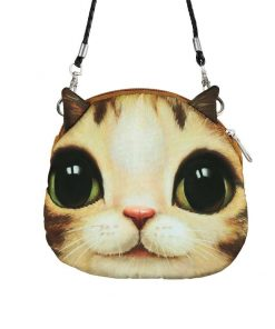 Cute 3D Cat Coin Bag | Free Shipping Stunning Pets MINI(MAX LENGTH<20CM) SKY BLUE