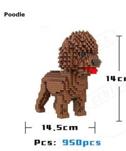 Cute Dog Mini Blocks Toy Stunning Pets Poodle No box