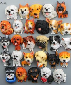 Cute Mini Husky Bulldog Fridge Magnet Stunning Pets