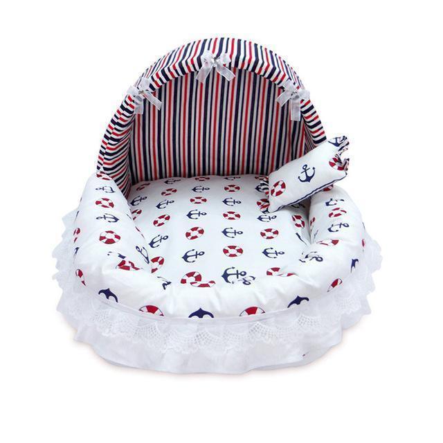 Cute Princess Pet Bed Stunning Pets Navy Stripe L 52x42x39cm