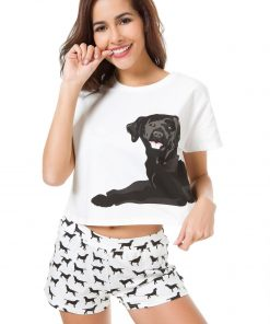 Cute Set Of Pajamas Dog Lovers ROI test GlamorousDogs S Black Labrador