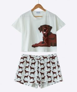 Cute Set Of Pajamas Dog Lovers ROI test GlamorousDogs S Chocolate Labrador
