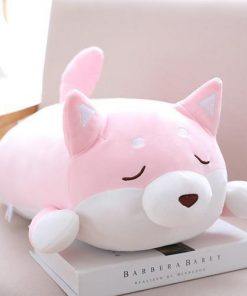 Cute Shiba Inu Pillow Stunning Pets pink close eyes