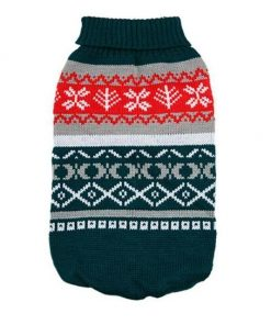 Cute Snowflake Sweater Stunning Pets Army Green L