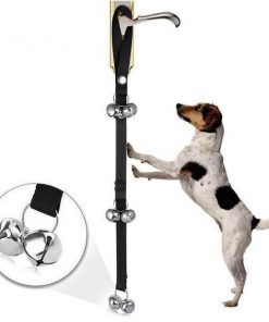 Dog Doorbells for Dog Training Stunning Pets Black 80cm Bottom 2 bells