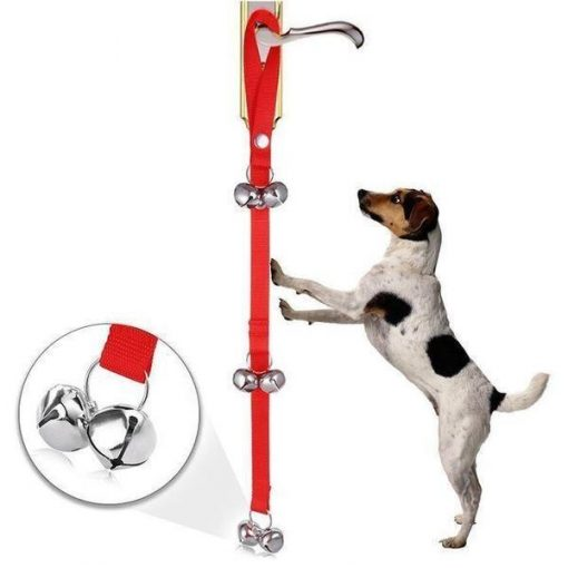 Dog Doorbells for Dog Training Stunning Pets Red 80cm Bottom 2 bells
