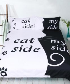DOGGYSHEETS™: Your Dog's Place In Your Sheets Made Clear My Dog Side bedding sets GlamorousDogs Cat side US Full 3pcs