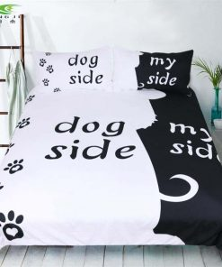 DOGGYSHEETS™: Your Dog's Place In Your Sheets Made Clear My Dog Side bedding sets GlamorousDogs Dog side US Full 3pcs